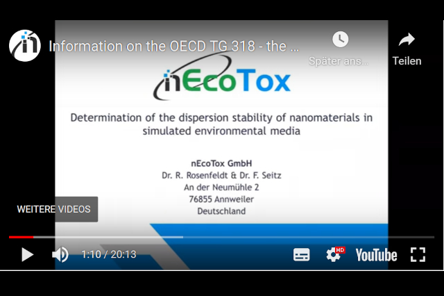 Dispersion stability of Nanomaterials – OECD TG 318